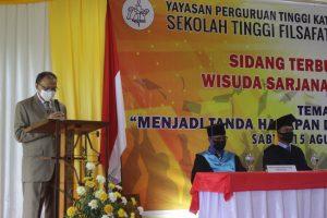 Bpk. Syarul Poli, Ketua Aptisi Sulut memberikan sambutan